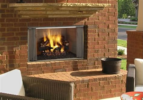 outside wood burning fireplace villawood 36 quot outdoor wood burning fireplace s gas