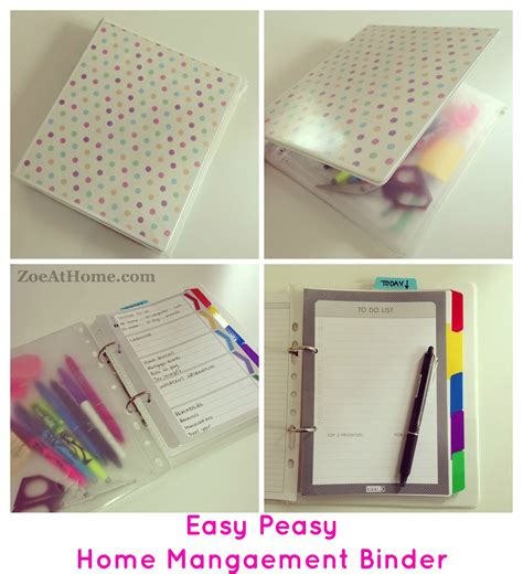 build a planner easy peasy home management binder or diy planner