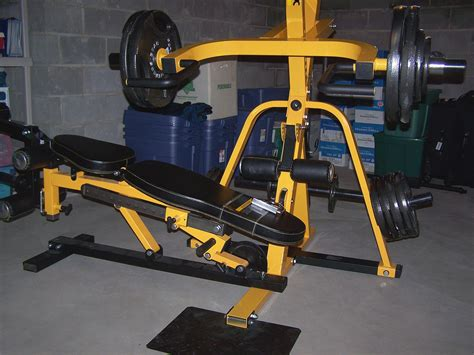 powertec leverage home gym the bench easily turns out of