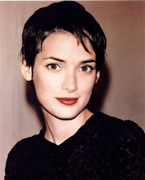 rider with a pixie haircut hair musing winona ryder winona ryder hair musing 90s