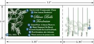 two sided raffle ticket templates free new calendar