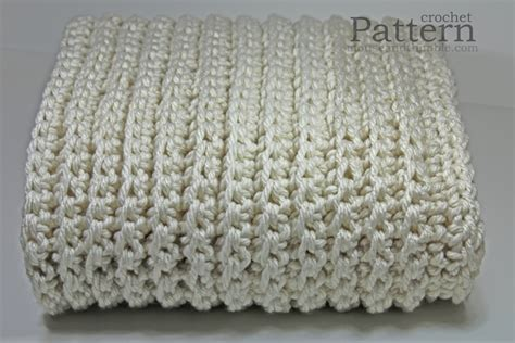 crochet pattern bulky yarn afghan chunky afghan fisherman style sofa throw easy crochet