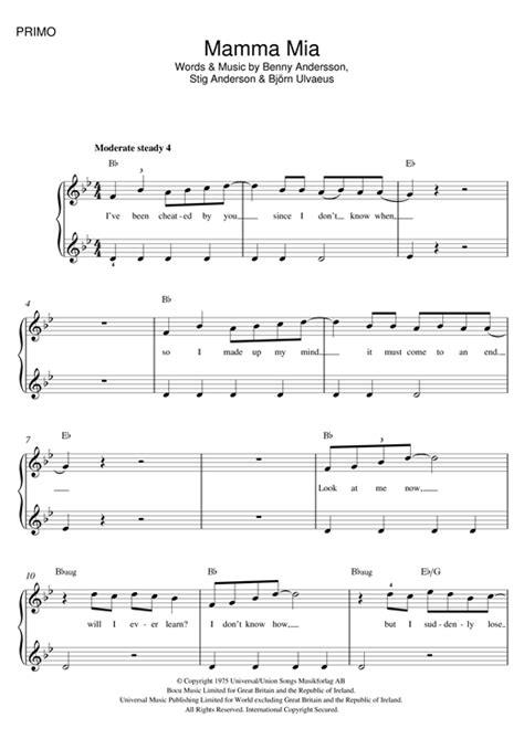 tutorial piano mamma mia mamma mia sheet music by abba piano duet 121564