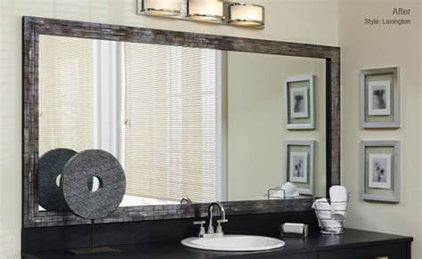 stick on frames for bathroom mirrors creative designs stick on bathroom mirror frames for