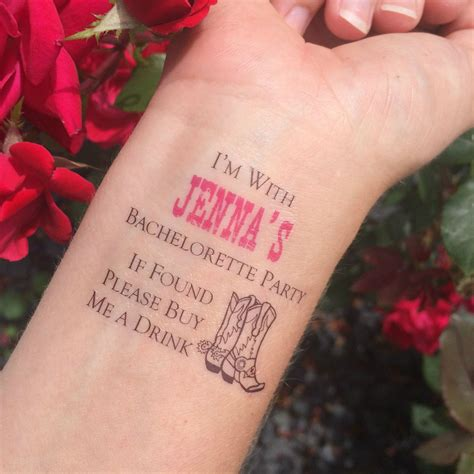 bachelorette party tattoos western if found buy me a drink bachelorette