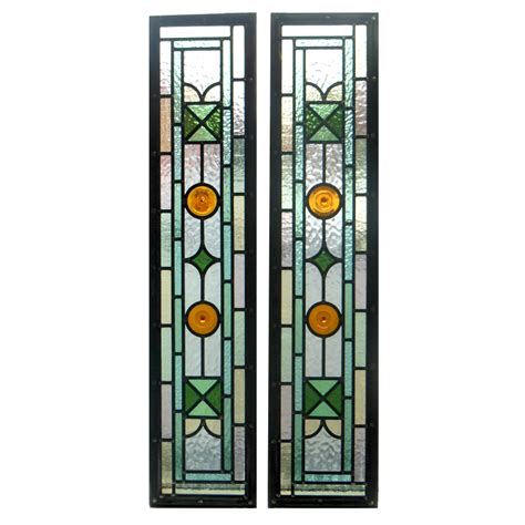 stained glass panels green kyle stained glass panels from period home style