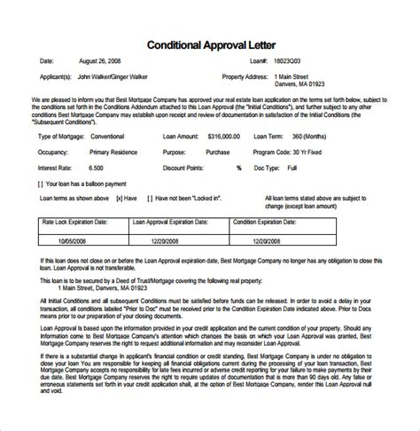 Loan Approval Commitment Letter Mortgage Commitment Letter 5 Free Documents In Pdf Word