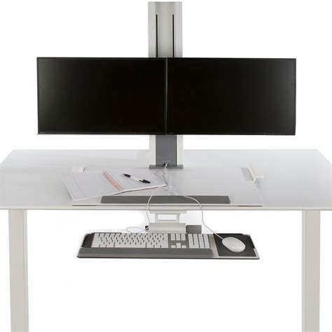 humanscale sit stand desk humanscale quickstand heavy dual sit stand workstation