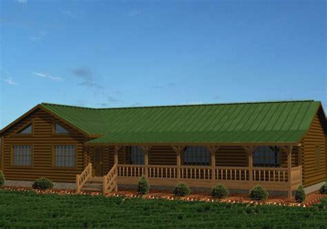 single level log home plans single story log homes floor plans kits battle creek