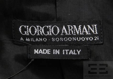 Labels For Armani by Giorgio Armani Black Label 2 Black Wool Jacket