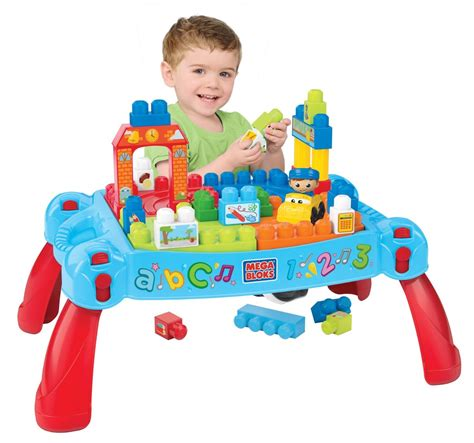 Mega Bloks Build N Learn Table by Mega Bloks Builders 3 In 1 Build N Learn Table