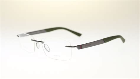 gucci mens rimless eyeglasses gg2239 r80 green rectangle
