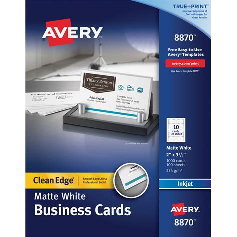 avery injet business card template avery business card ave8870 supplygeeks