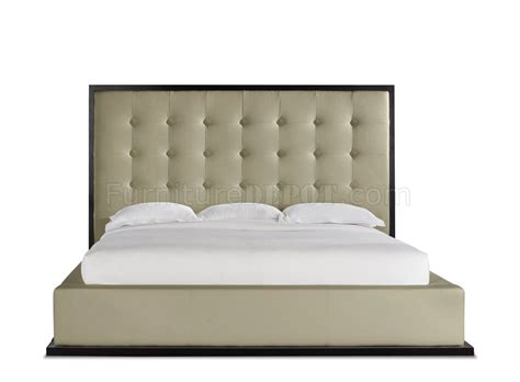 modern tufted headboard md317 ludlow dusty grey wenge modern bed by modloft