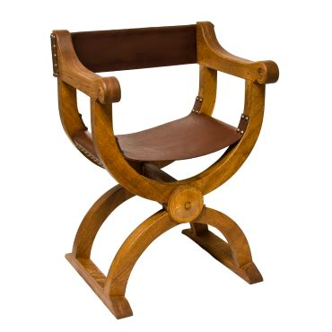 Handmade Chairs Uk - traditional handmade oak and leather curule chair