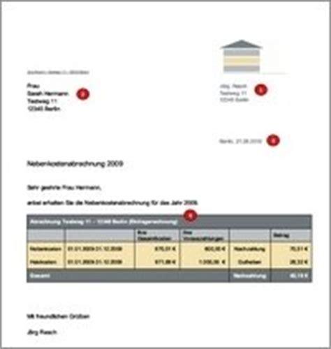Mahnung Nebenkosten Muster Nebenkostenabrechnung Muster Kostenlos Hausblick