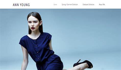 fashion design portfolio websites html website templates for design wix