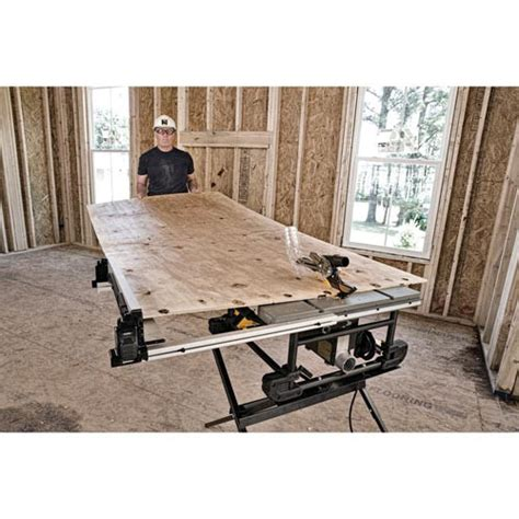 10 in compact table saw with stand dewalt dwe7490x 10 in 15 site pro compact jobsite