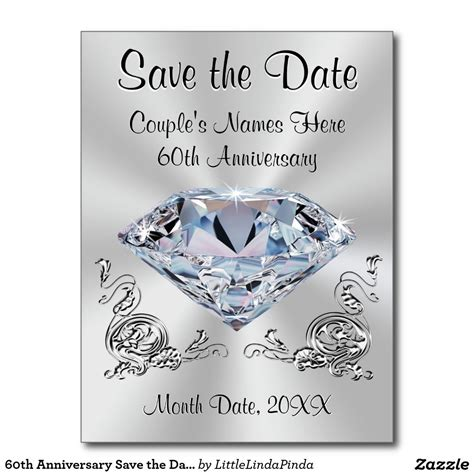 Wedding Anniversary Date Ideas by 60th Anniversary Save The Date Cards Personalized 60