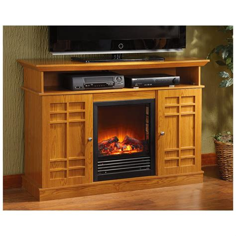electric fireplace media stands castlecreek media stand electric fireplace 227155