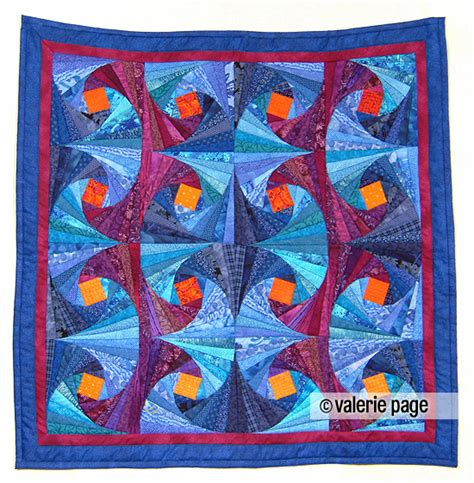 Fibonacci Quilt Pattern by Fibonacci Vines Quilted Wallhanging Pagequilts