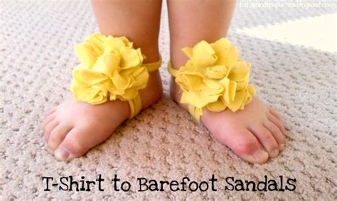 diy baby barefoot sandals 25 adorable easy to make baby accessories