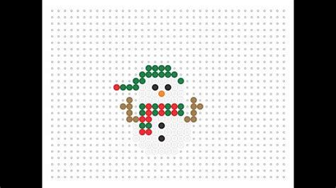 hama snowman hama bead snowman series 15