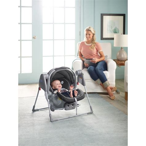graco car seat swing frame com snugglider classic connect infant car seat