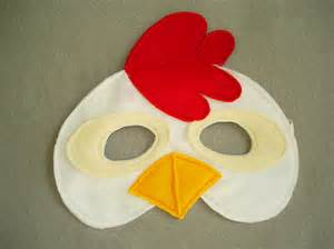 children s chicken farm animal felt mask by magicalattic