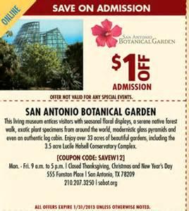 Garden Of Coupons Free San Antonio Botanical Garden Coupons Best Free