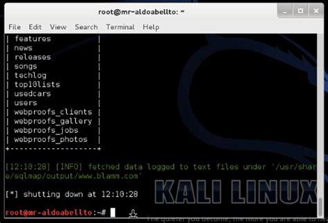 sql injection tutorial kali linux sql injection mengunakan sqlmap kali linux wearerog