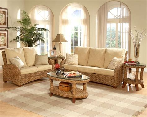 tropical living room furniture martinique furniture set wood and wicker are complementing