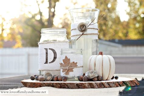 Mason Jar Home Decor Ideas by Rustic Fall Centerpiece Tutorial Love Of Family Amp Home