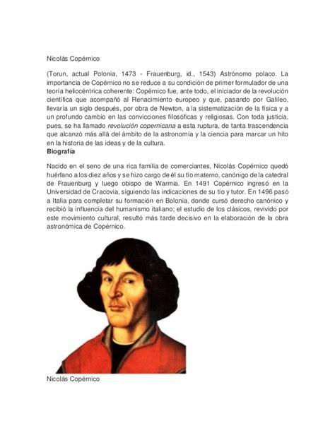 biografia de nicolas menacho bibliografia de nicol 225 s cop 233 rnico