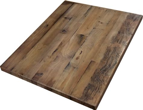 reclaimed wood plank table tops restaurant
