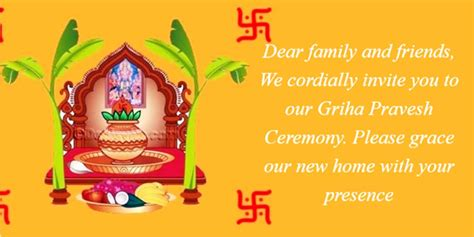 New House Opening Invitation Card In