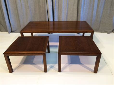 knoll style coffee table with matching side tables for