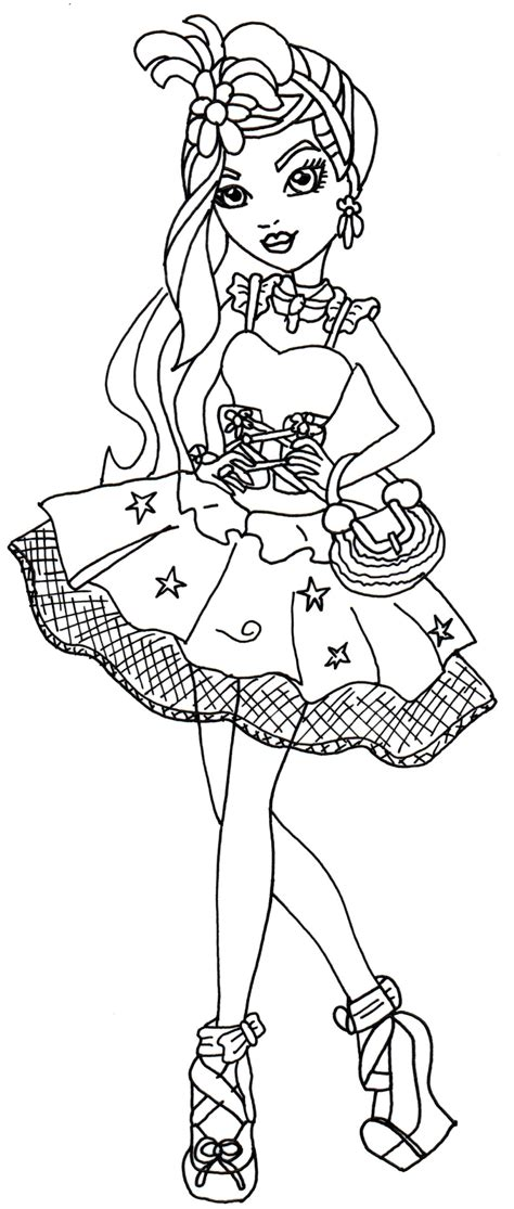 ever after high coloring pages by elfkena free printable ever after high coloring pages duchess