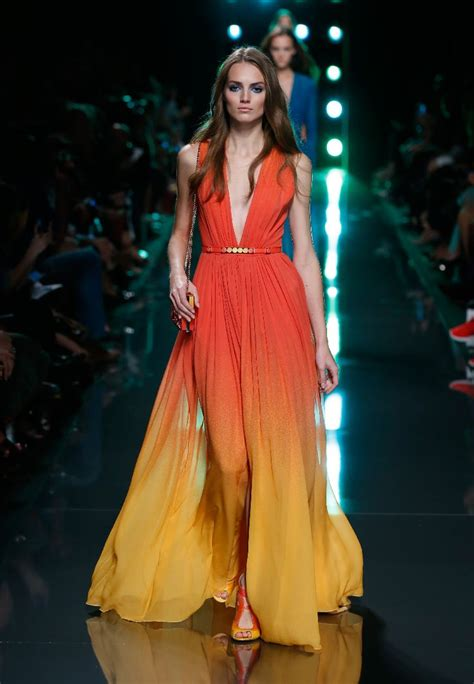 hemlines for spring 2015 elie saab spring summer 2015 tropical reef colors and