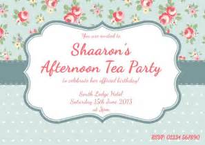 traditional tea party invites