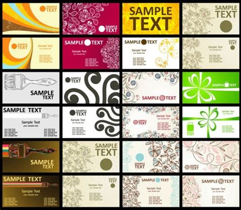 Free Business Card Templates Artwork by Business Card Template Free Vector