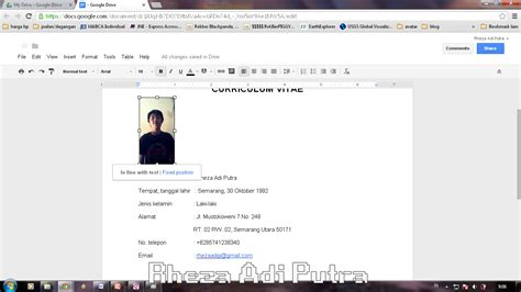 membuat cv dengan virtual office membuat cv pada google docs ilmukomputer com