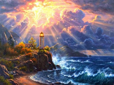dramatic wallpaper dramatic lighting lighthouses architecture background