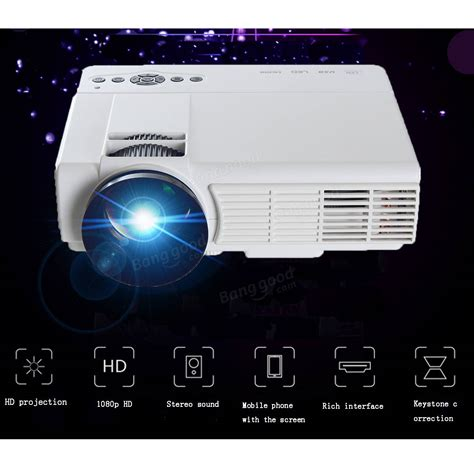 Home Theater Multimedia Visilux 3d hd 1080p 3000lumen home theater multimedia pc vga usb led projector sale banggood