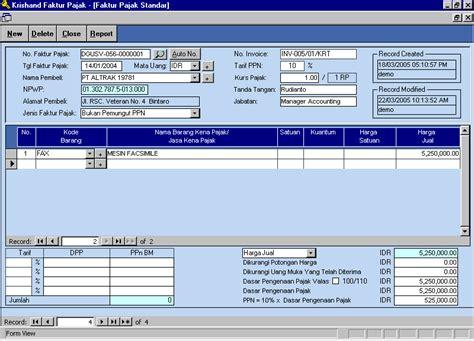 pembuatan faktur pajak standar contoh faktur pajak newhairstylesformen2014 com