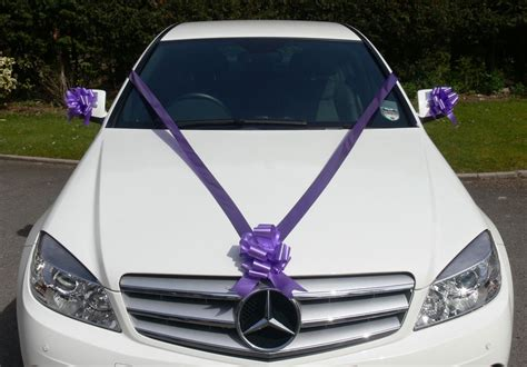 Wedding Car Decoration Uk by Cadbury Purple Wedding Car Decoration Kit Large Bows 7m