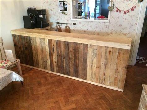 building a bar top counter diy pallet l shape desk counter and bar table 99 pallets