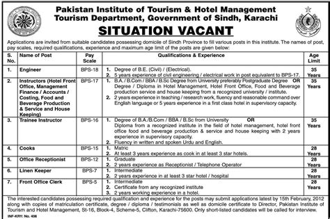 Opportunity For Mba In Tourism And Hospitality Management by Pakistan Institute Of Tourism Hotel Management Karachi