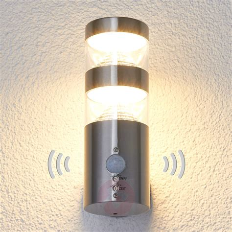 outdoor motion sensor wall light led outdoor wall light lanea with motion sensor lights co uk