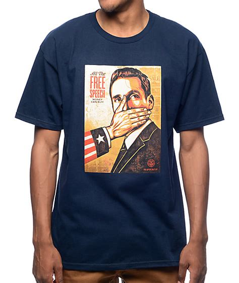 Tshirt Tshirt Obey obey pay up or shut up navy t shirt at zumiez pdp